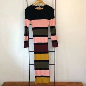 Bodycon maxi sweater dress